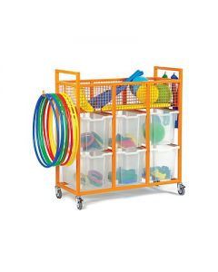 Monarch School Sports Trolley with 6 Jumbo Trays
