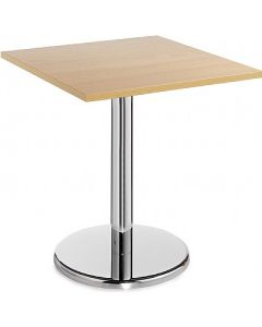Square Bistro Table with Chrome Leg - 24 Hour Delivery