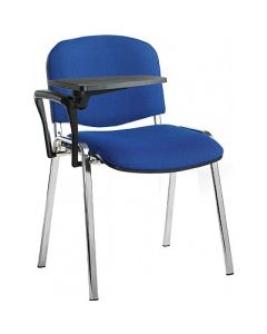 Taurus Chrome Frame Chair with Writing Tablet
