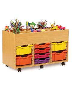 Monarch 8 Tray and Kinderbox Compartment Storage Unit