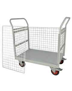 Mailroom Trolley With Full Side