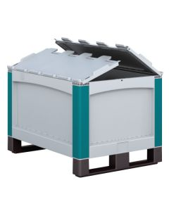 Pallet with Hinged Lid