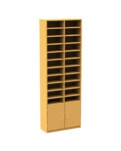 22 Compartment Pigeonhole Unit with Cupboard