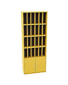 24 Compartment Pigeonhole Post Unit with cupboard