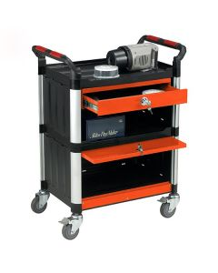 Utility Trolley Cabinet with Lockable Drawers