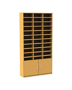 33 Compartment Pigeonhole Unit with Cupboard