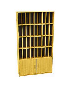 36 Compartment Pigeonhole Post Unit with cupboard