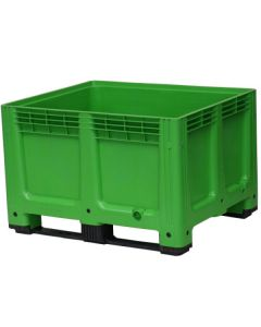Plastic Box Pallet - Solid Sides - Green