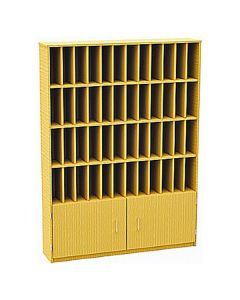 48 Compartment Pigeonhole Post Unit with cupboard