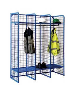 Heavy Duty Wire Mesh Lockers - Single Sided