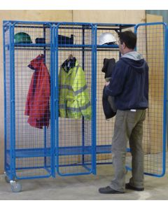 Mobile Heavy Duty Wire Mesh Lockers with Lockable Doors