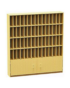 60 Compartment Pigeonhole Post Unit with cupboard