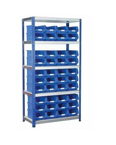Eco-Rax TC Shelving and Storage Kits with 40 x Blue TC Storage Boxes