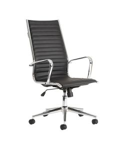 Black Faux Leather Executive Leather Conference Chair - 24 Hr Delivery