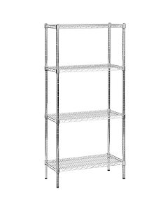 Boltless Chrome and Epoxy Coated Wire Shelving