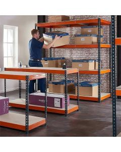 TUFF Shelving 450KG 600mm Deep 3 Bay 2 Workbench Bundle
