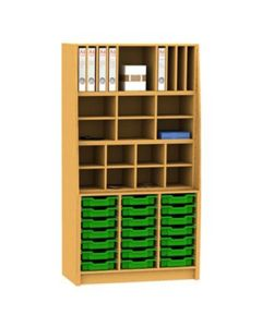 Combination Pigeonhole Sorter Cupboard with 21 Trays