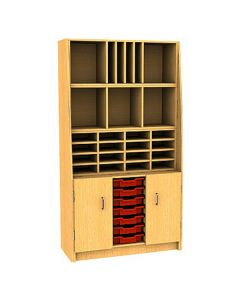 Combination Pigeonhole Sorter Cupboard with 7 Trays