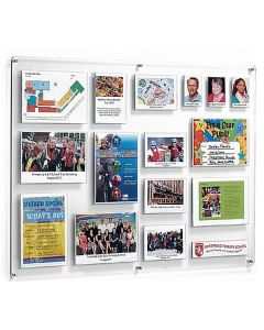 Crystal Wall Achievement and Notice Boards - Landscape