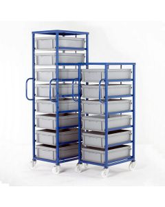 Mobile Tray Racks with Deep Trays