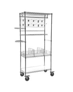 Boltless Chrome and Epoxy Coated Wire Shelving Accessories