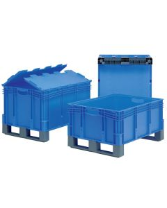 Euro Containers with Forklift Entry Shoes