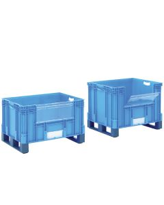 Euro Containers with Pick Opening and Forklift Entry Shoes