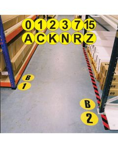 Self Adhesive Floor Identification Letters and Numerals