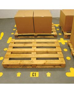 Self Adhesive Floor Signal Markers - In Use