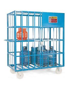 Mobile Gas Cylinder Cage - Blue Painted Finish