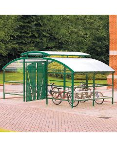 Gated Cycle Shelter with Security Canopy