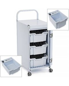 Gratnells PowerTray Store charge Sync Box and Trolley System
