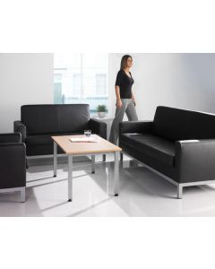 Helsinki Leather Reception Seating - 24 Hr Delivery
