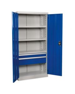 Sealey Industrial Cabinet with 2 Drawers & 3 Shelves