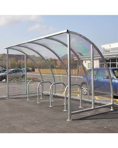 Kenilworth All Perspex Cycle Shelter
