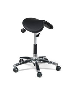 Leather Height Adjustable Perch Stool