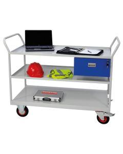 Maintenance Trolleys with 3 Shelves & Drawer