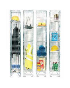 Zinc Plated Wire Mesh Lockers