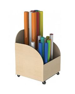 Mobile Art Paper Roll Storage Trolley