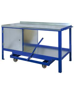 Mobile Workbench with Single Cupboard