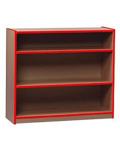 Monarch Wooden Bookcase - 750mm High - Coloured Edges - Red Edging