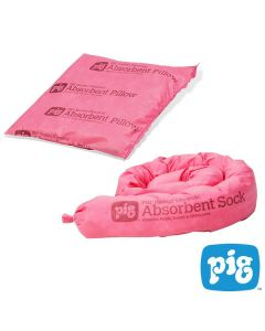 Pig® Chemical Absorbent Socks and Pillows