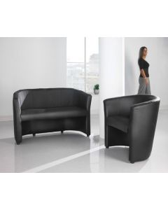 London Leather Tub Chairs - 24 Hr Delivery