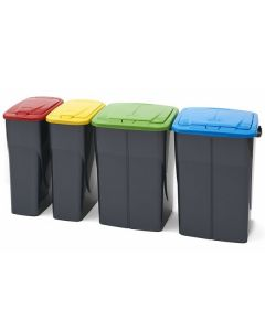 Push Lid Recycling Bin - 45 and 25 Litre