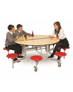 Round Mobile Folding School Table and Seating