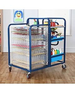 School Art Trolley with Tray Storage and Paper Dryer