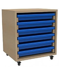 Single Column A3 Art Storage Unit with 6 Gratnells Trays