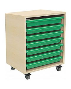 Single Column A3 Art Storage Unit with 7 Gratnells Trays