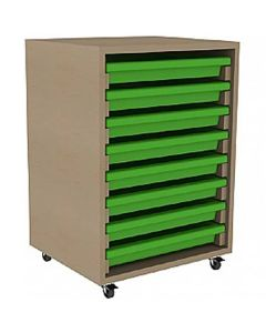 Single Column A3 Art Storage Unit with 8 Gratnells Trays