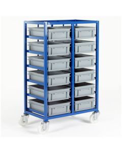 Small Parts Mobile Tray Rack